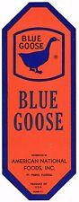 CRATE LABEL VINTAGE FLORIDA 1940 STRIP SCARCE BLUE GOOSE FT PIERCE BOLD GENUINE