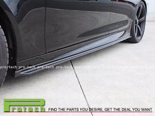 3D Carbon Fiber Side Skirts Add-On Lip Fits 2012-2016 BMW 5-Series M5 Only