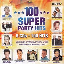 100 SUPER PARTY HITS - 5 CD - 100 HITS