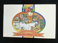 2001 BABY PROOF SET -INCLUDES COLOURED $1 DOLLAR COIN & FIFTY CENTS. AS NEW