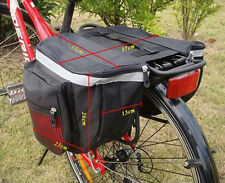 Carrier Double Pannier Cycling Bicycle Cycle Rack Back Rear Seat Storage Bag Red