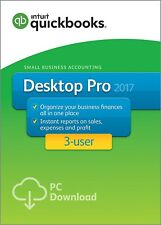 QuickBooks Desktop Pro 2017 Small Business Accounting Software - 3-User