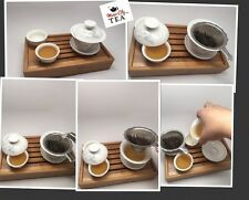 Ging Fu Tea Set Chinese Style Starter Tea Set with Gaiwan Easy To Use