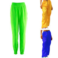 Womens Ladies Solid Pants Waist Spring Casual Trousers Straight Pants Sweatpants