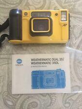 Vintage Minolta Weathermatic Dual 35 Underwater Film Camera Close Up Photography