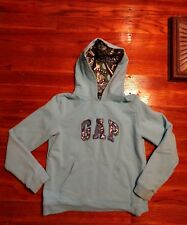 Gap Kids Pullover Hoodie Girl's Blue Cotton Polyester Spandex Size 8
