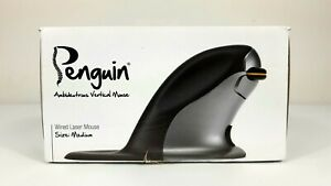 Penguin Ambidexterous Vertical Wired Laser Antimicrobial Mouse Medium BNIB