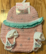 SoDorable Baby Girls 0-6M  Watermelon Crocheted Hat, Diaper Cover & Booties