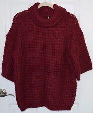 Plenty Tracy Reese Anthropologie burgundy waffle tunic oversize sweater women S