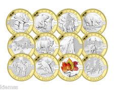 2013 Canada Fine Silver 12-Coin Set - O Canada - Mintage: 1,500