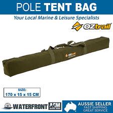 OZtrail Tent Pole Bag Brown Canvas Camping Tarp Awning Ridge Poles Spreader Bar