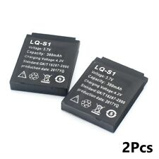 2pcs lq-s1 3.7v smart watch dz09 battery replacement li-ion polymer battery 380