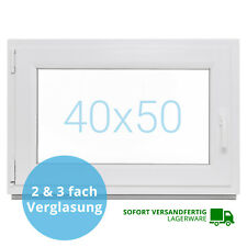 Kellerfenster 40x50 BxH Kunststoff Fenster Dreh Kipp LAGERWARE 2 & 3 Verglast