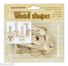 Leane Creatief Wooden Shapes Ornaments - MUSICAL INSTRUMENTS 8pcs 71.1802 Wood