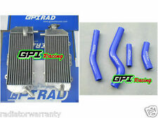 R&L aluminum alloy radiator Yamaha WR450F WR 450 F 2012 2013 2014 +hose