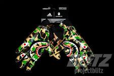 ADIDAS x BAPE FOOTBALL GLOVES SB CAMO SIZE  XL AUTHENTIC MULTI SUPER BOWL