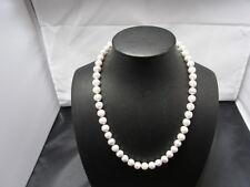 Süßwasser Perlenkette alt Ver mit Briliant 14 Ka Weißgold KL 42 cm Perlen D 8mm