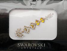 Bindi bijoux piel boda frente strass cristal de Swarovski dorada ING C 3672