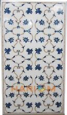 3'x2' Rectangle Marble Top Dining Table Lapis Floral Inlay Hallway Decors W246