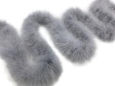 USA Seller 2 Yards Silver Gray Turkey Medium Weight Marabou Feather Boa 25 Gram