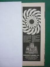 1/1976 PUB MICROTURBO TOULOUSE TURBINE A GAZ REACTEUR CIBLE ORIGINAL FRENCH AD