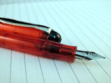 Delhi Fountain Pen - Red - Piston Filler - Made in India