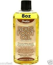Angelus Prime Neats Foot Oil Compound Waterproof 8oz Boots Shoes Baseball gloves