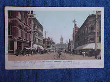 Oakland CA/Washington Street/Man on Bicycle in Foreground/Printed Color Photo PC