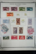 French Equatorial Africa 1920s to 1950s Stamp Collection
