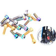 Disc Brake Caliper Fixing Bolts Ti M6*16/18/20mm MTB Bike Bicycle Screws 4PCS