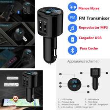 FM Transmisor Inalámbrico Bluetooth Coche Reproductor de MP3 Radio USB Mechero