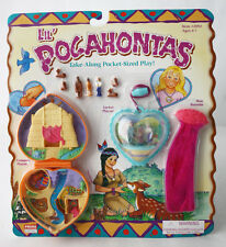 RARE VINTAGE 90'S LIL POCAHONTAS PLAYSET POLLY POCKET PRIME TIME NEW MOSC !
