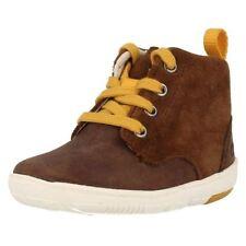 Chaussures marrons zip en cuir pour garçon de 2 à 16 ans
