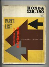 Honda Benly 125 150 CB92 CB95 (1959-1962) Factory Parts List Catalogue Book BX92