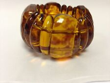Claire's Accessories Stretchy See Through Brown Funky Chunky Bracelet