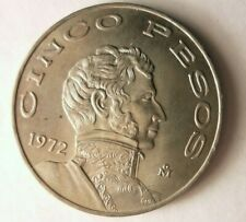 1972 MEXICO 5 PESOS - AU - Excellent Vintage Coin - Mexico Bin #D