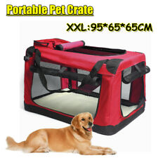 XXL Pet Dog Soft Crate Portable Carrier Travel Cage Tent Kennel Folding - RED