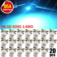 20X B8.5D 1-SMD Tri-cell 5050 T5 Ice Blue Speedometer Cluster Dashboard Light US
