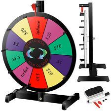 "15"" Tabletop 10 Slot Color Prize Wheel of Fortune Spinning Game Editable Eraser"