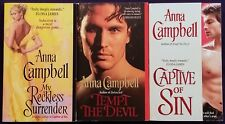 3 Steamy ANNA CAMPBELL Historical LORDS & LADIES Romance Books TEMPT THE DEVIL +