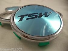 TSW Wheels Chrome Custom Wheel Center Caps # C-C43-1 ONE CAP