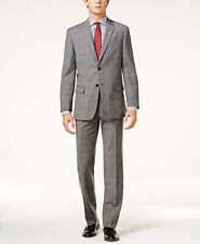 $620 TOMMY HILFIGER men GRAY WOOL SLIM FIT SUIT JACKET COAT BLAZER PANTS 44 L