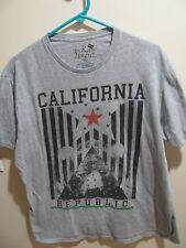 The Raw Uncut California Republic Mens Bear T-Shirt Size XL