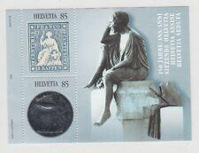 Svizzera 2004 Bf 37 150 anniversario francobollo Strubel