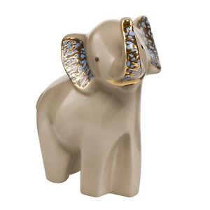 "Elephant de luxe ""Siangiki"" GOEBEL PORZELLAN 70000141 Braun mit Echtgoldauflage"