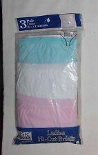Women's Vintage 3 Prs Cotton Hi-Cut Panties Underwear Sz 7 HTF Comfy Summer