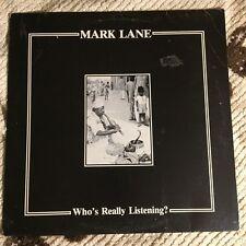 Mark Lane – Who's Really Listening? LP Orig Blk Vinyl Minimal Wave Synth 1984