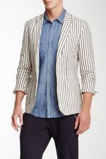 Antony Morato Gold White Unconstructed Blazer Size 42 Extra Long Super Slim Fit