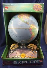 Quantum Leap Explorer Interactive Talking Globe Leapfrog Tested NOS with Box