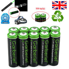 Garberiel Battery 3.7V Li-ion Rechargeable Low Drain Batteries for Flashlight